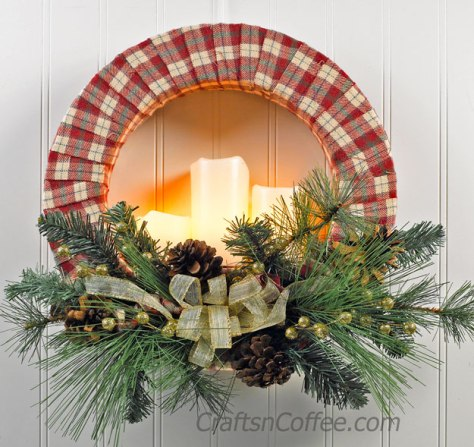 Cozy Candle Wreath