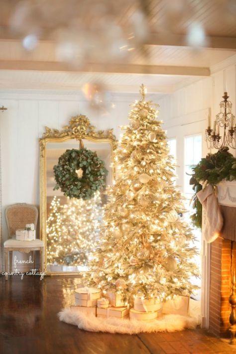 Glowing Golden christmas Tree