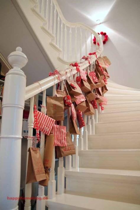 Advent Calendar on Staircase