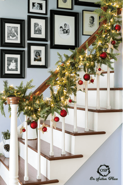 Rustic Staircase Decoration