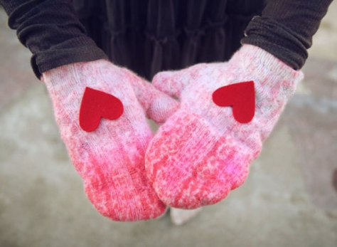 Ombre Sweater Mittens