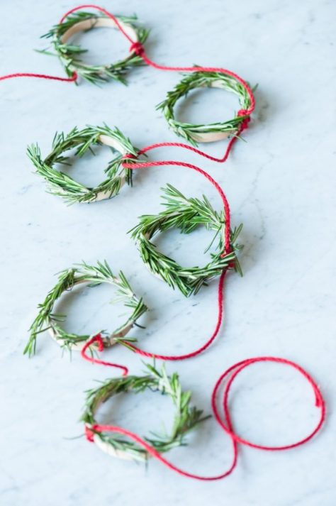 Mini Rosemary Wreath Garland