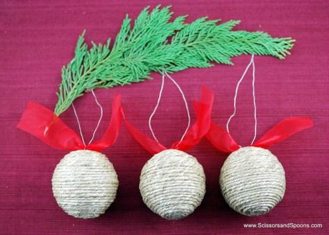 Twine Christmas Balls