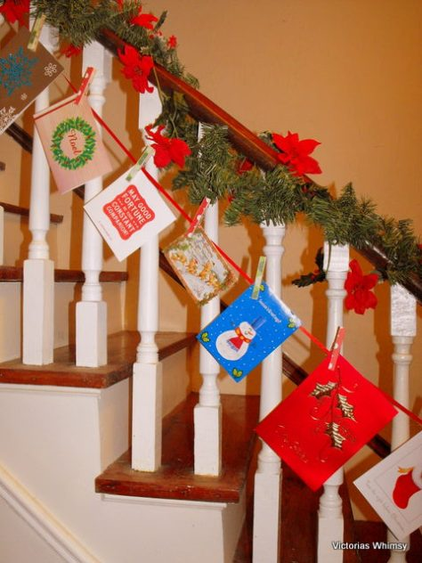 Peasy Christmas Stair Decorations
