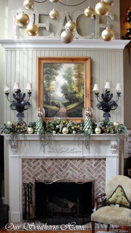 Southern Style Fireplace Decor