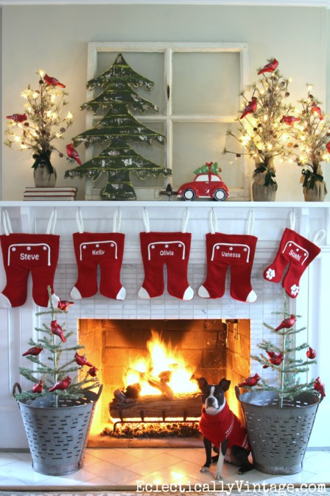 Whimsical Fireplace Decoration