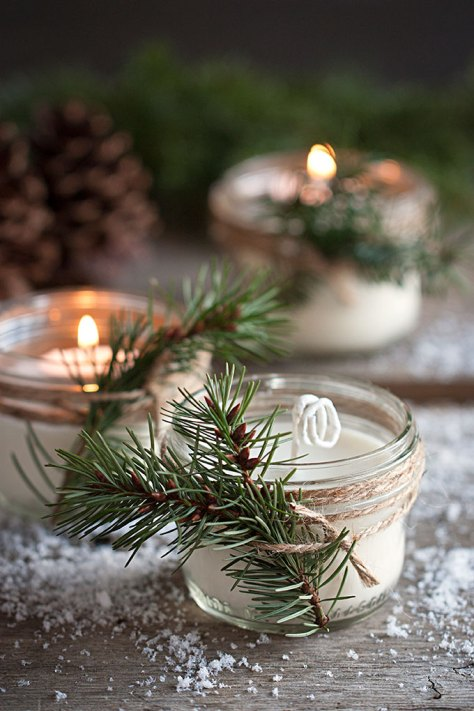 Pinecone Scented Soy Candles