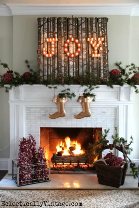 JOY Fireplace Decoration