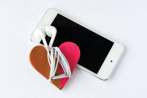Heart Headphone Cord Wrap