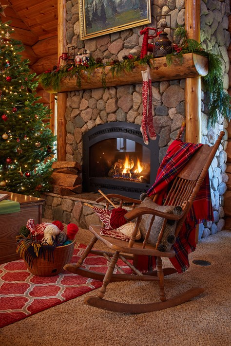 Eclectic Fireplace Decoration