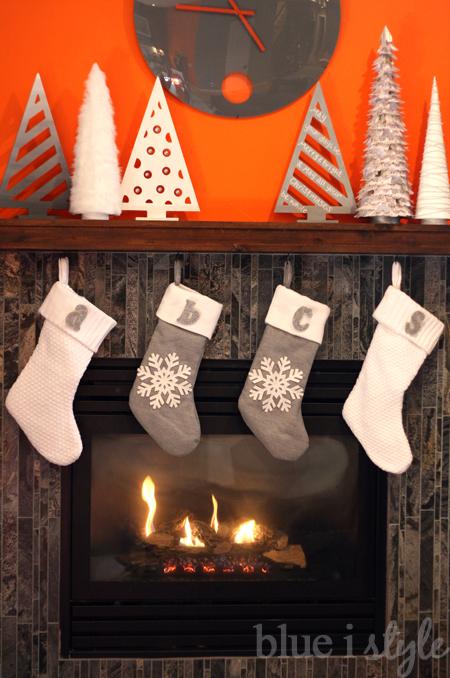 Monogram Pins Stockings