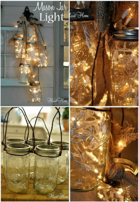Cluster Mason Jars Lights