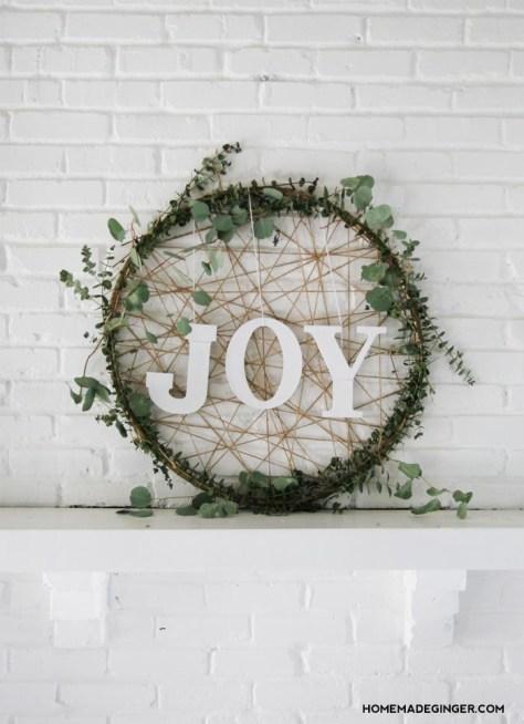 Giant Wreath With JOY Sign