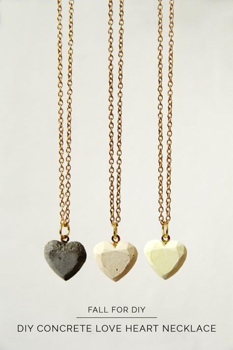 Concrete Hearts Necklace