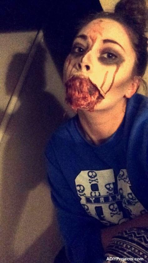 Blown Off Mouth Halloween Makeup