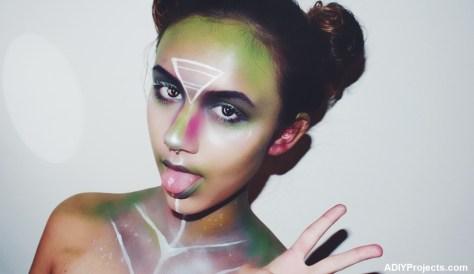 DIY Alien Halloween Makeup