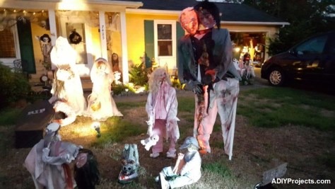 Zombies Halloween Decoration For Outdoor