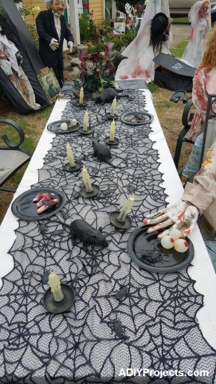 Zombies Halloween Decorations Dinner Table
