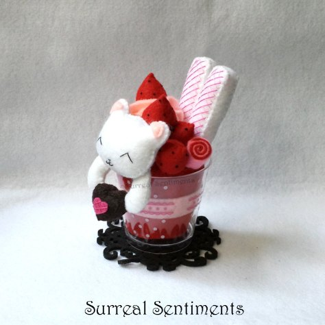 Valentine Bear Strawberry Parfait