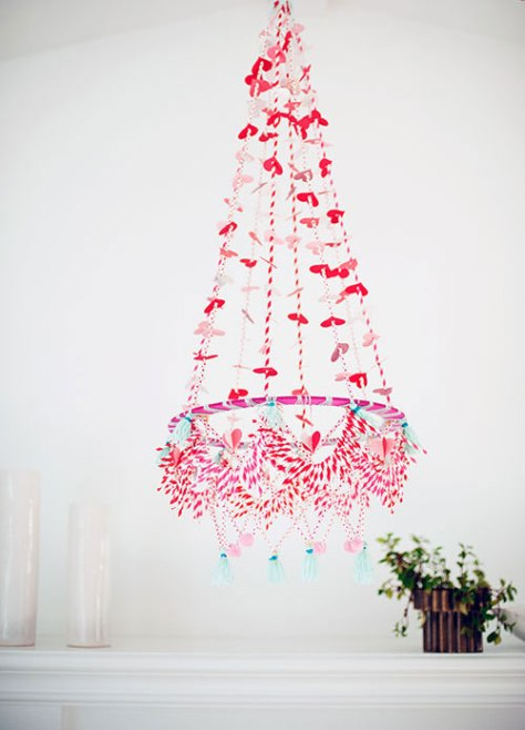 Valentine's Day Polish Chandelier