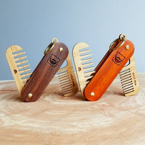 Beard Comb Keychain
