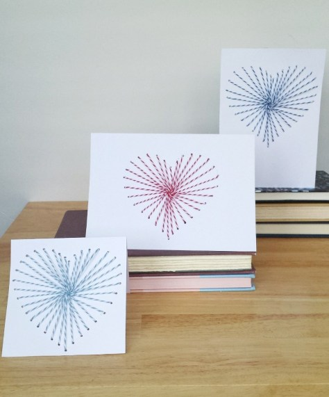 Hand Sewn Greeting Cards