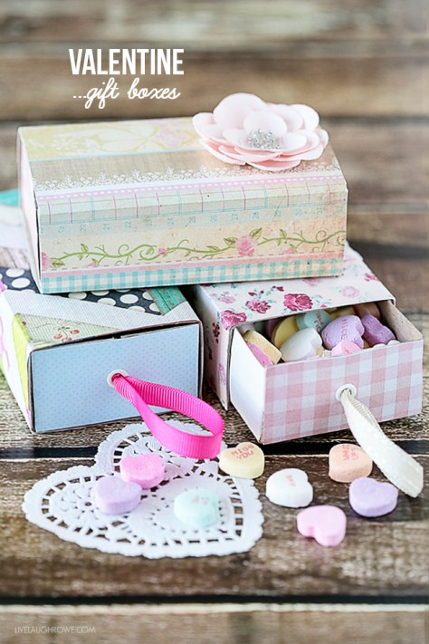 Valentine Boxes using Matchboxes