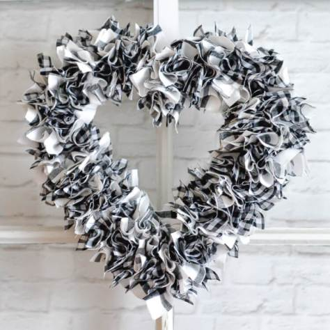 Scrappy Heart Wreath