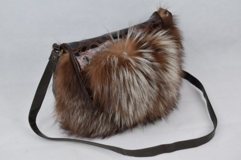 Real Fur Fox Hand Bag Tablet bag