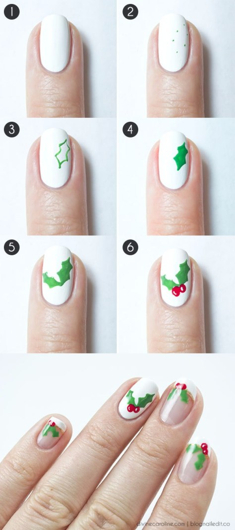 Deck the Halls Nails Art