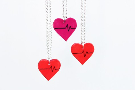 Upcycled Heart Charms