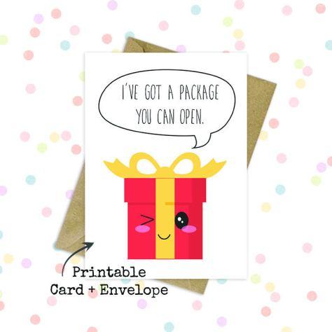 Naughty greeting card
