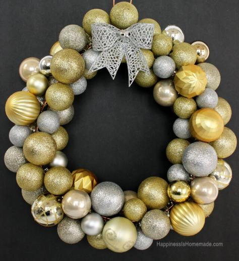 Gold Ornament Christmas Wreath