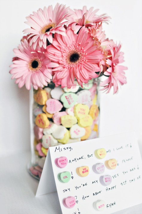 Love Notes with Conversation Hearts