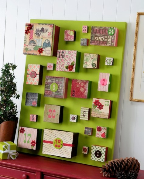 Advent Calendar with Canvas and Gift Boxes