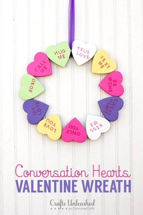 Conversation Heart Wreath