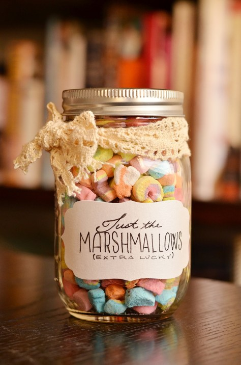 Marshmallows Christmas Gift In A Jar
