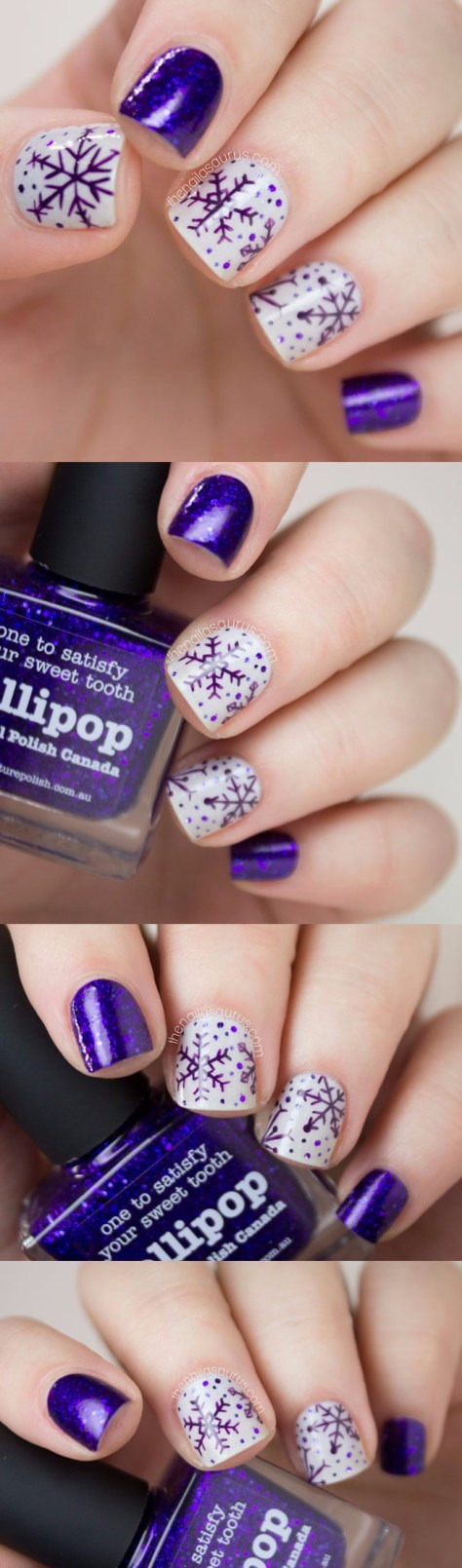 Purple Snowflake Nail