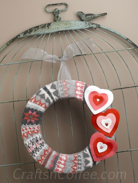 Valentine Sweater Wreath