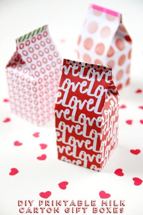 Printable Milk Carton Gift Boxes