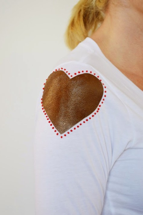 Leather Heart Shirt