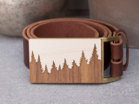 Pine Tree Belt Buckle