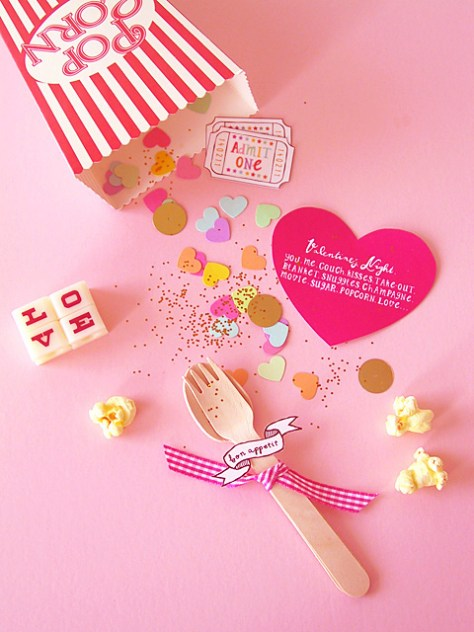 DIY Valentine Popcorn Invitation