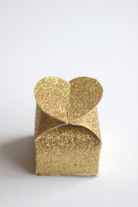 Glitter Valentines Heart Boxes