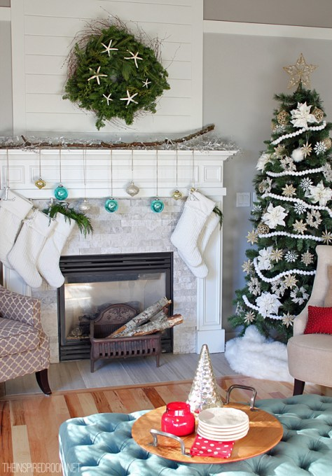 Living Room With White Stockings