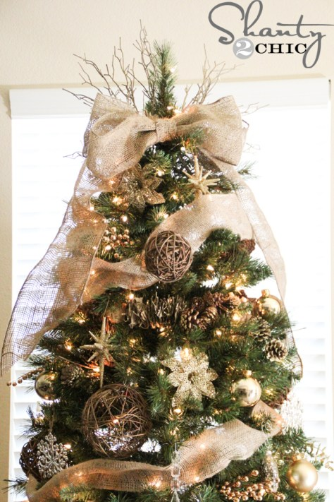 Burlap Christmas Tree Topper