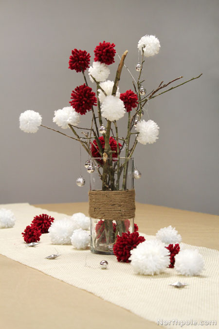 Sticks & Pompoms Centerpiece