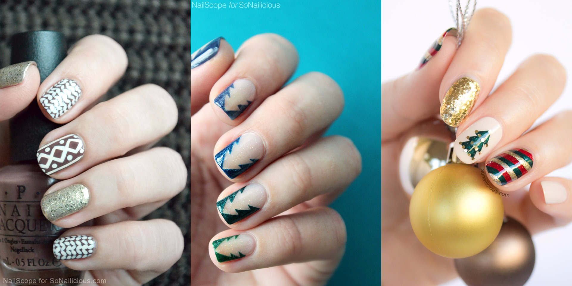 24 diy christmas nail art these will make you feel wow prinsesfo Images