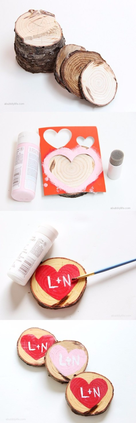DIY Heart Coasters