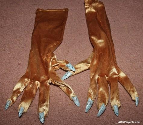 Ice Phoenixes Halloween Costume Gloves
